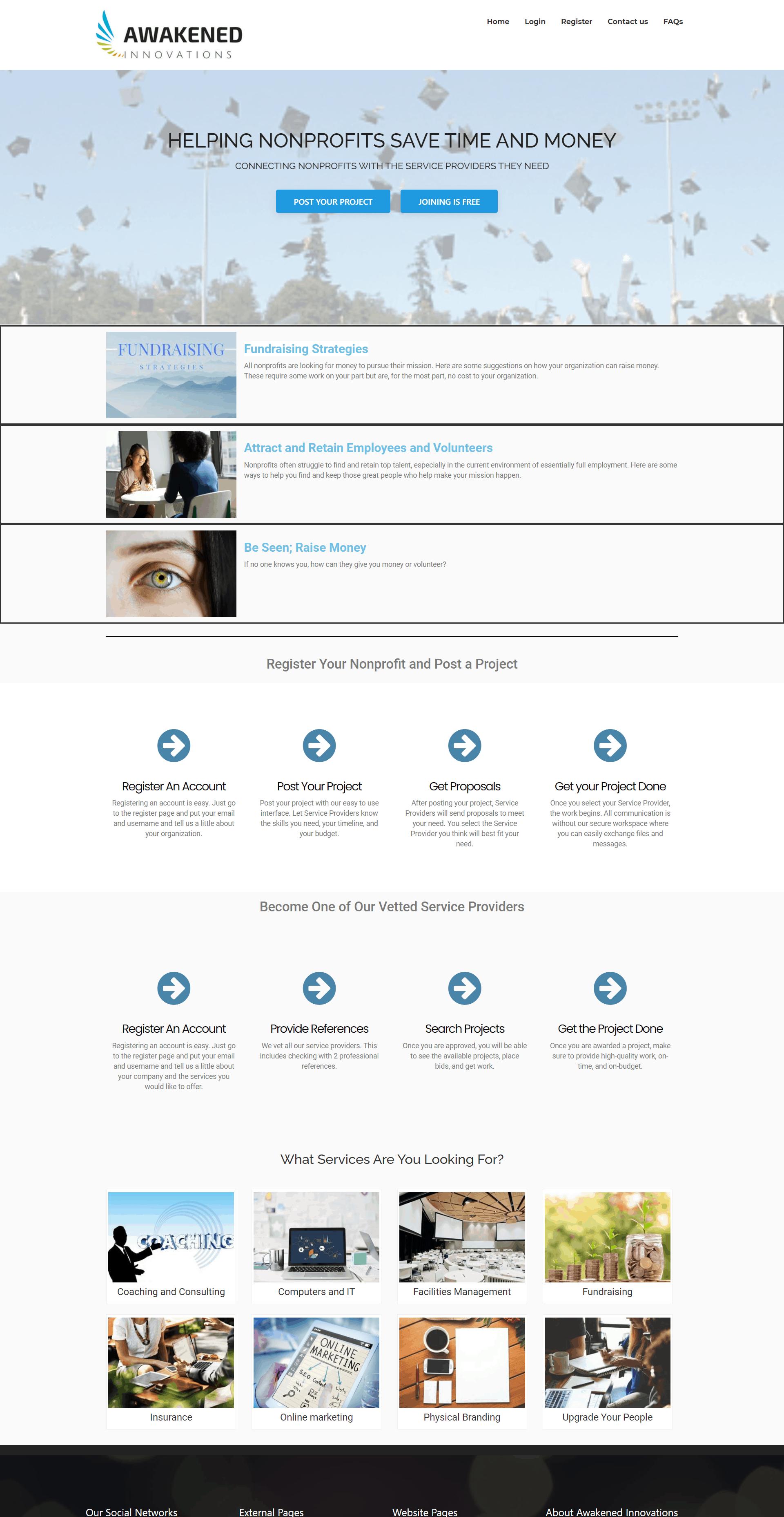 Awakened Innovations Full Screen Screenshot Homepage